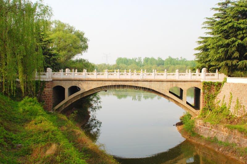 曲拱桥梁河 免版税库存照片
