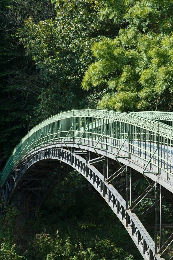 曲拱桥梁迈宁根 免版税库存照片