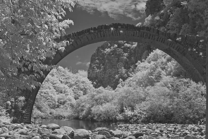 曲拱桥梁 免版税图库摄影