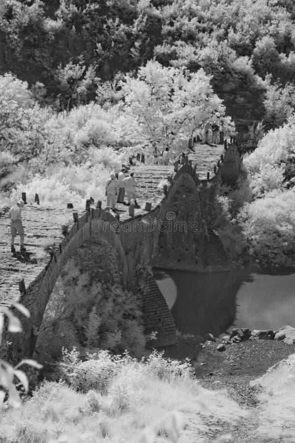 曲拱桥梁 图库摄影