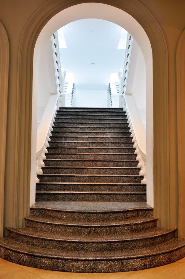曲拱楼梯 库存图片