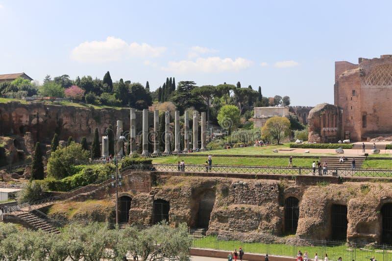 曲拱的,罗马游人 库存图片