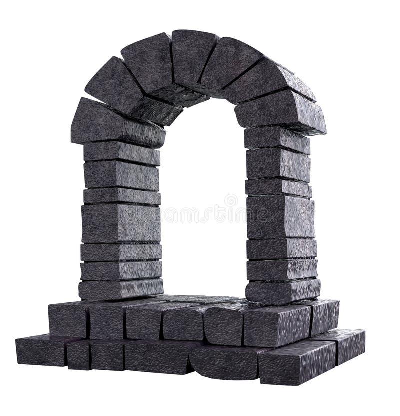 曲拱石头 库存例证