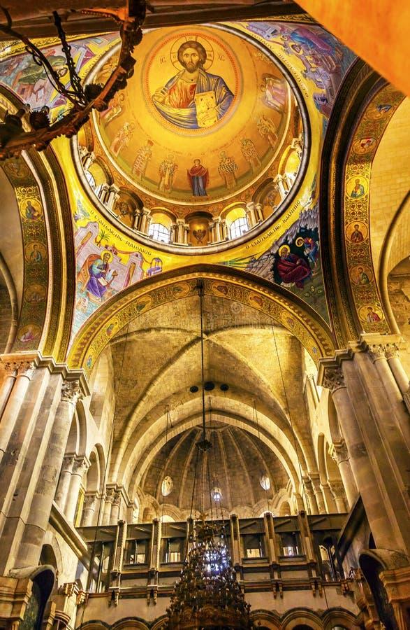 曲拱耶稣圆顶烈士教会圣洁坟墓耶路撒冷以色列 免版税库存图片