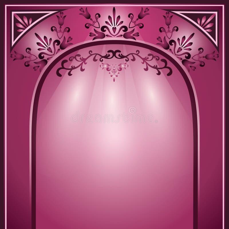 曲拱背景装饰装饰品 向量例证
