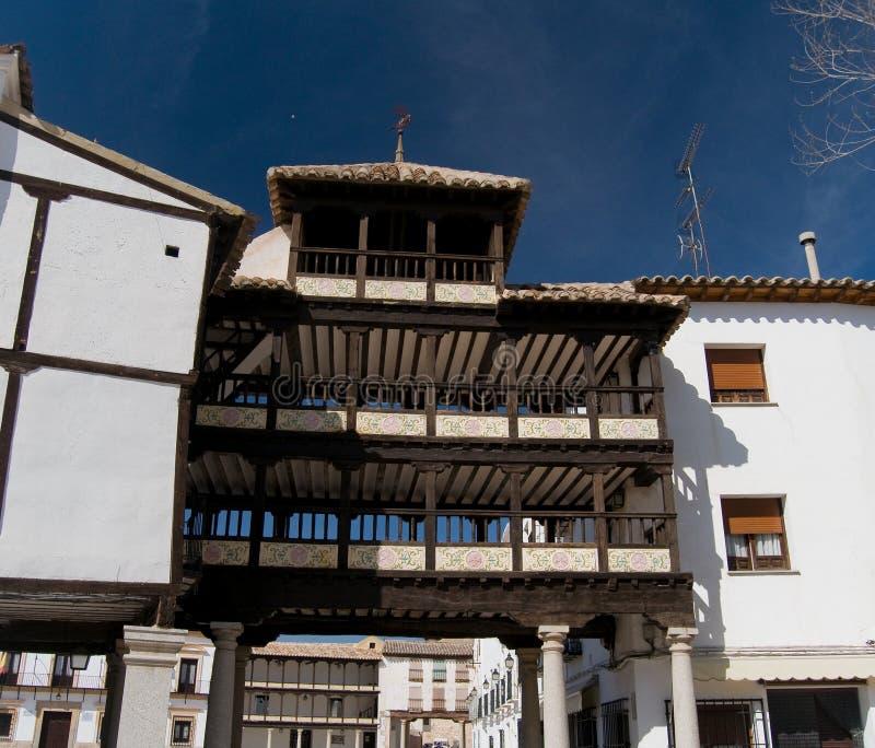 曲拱西班牙方形tembleque市长 免版税库存照片