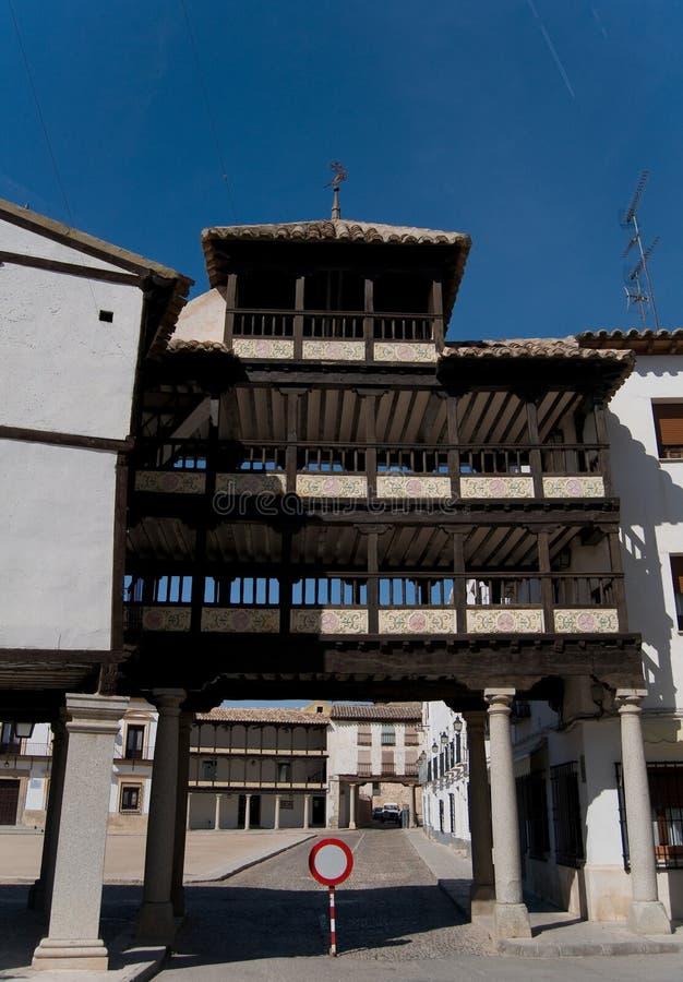 曲拱西班牙方形tembleque市长 免版税库存图片