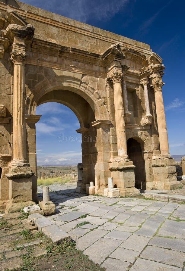 曲拱详述trajan的s 免版税库存图片