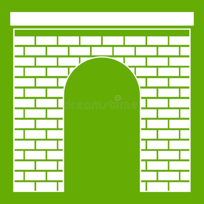 曲拱象绿色 库存例证