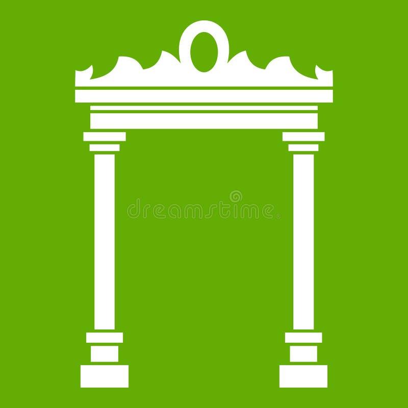 曲拱象绿色 皇族释放例证