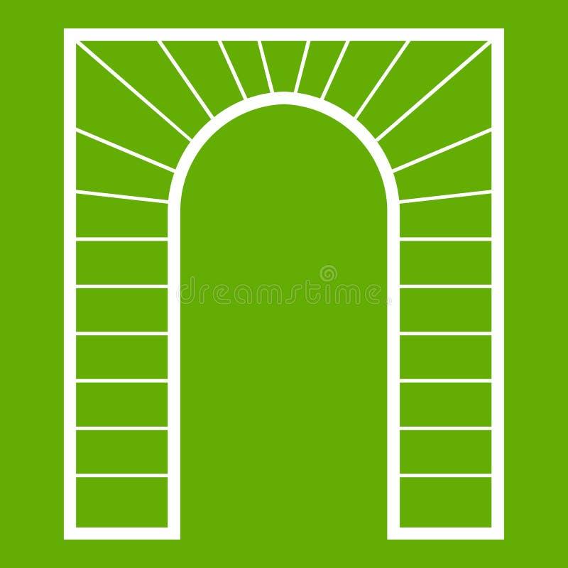 曲拱象绿色 向量例证