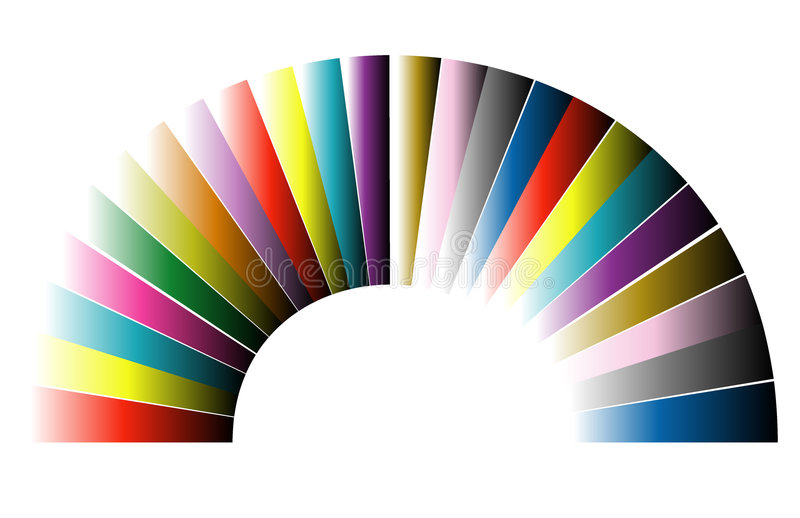 曲拱颜色 向量例证