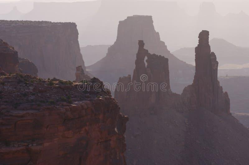 曲拱canyonlands洗衣妇 免版税库存图片