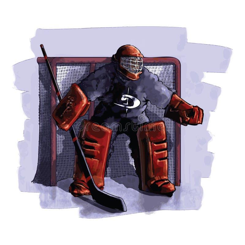 曲棍球冰球员 皇族释放例证