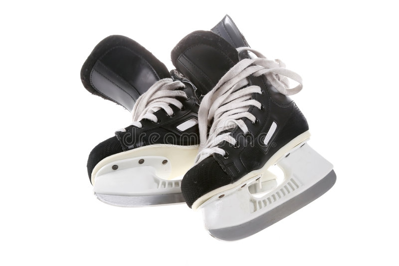曲棍球冰鞋 免版税库存照片