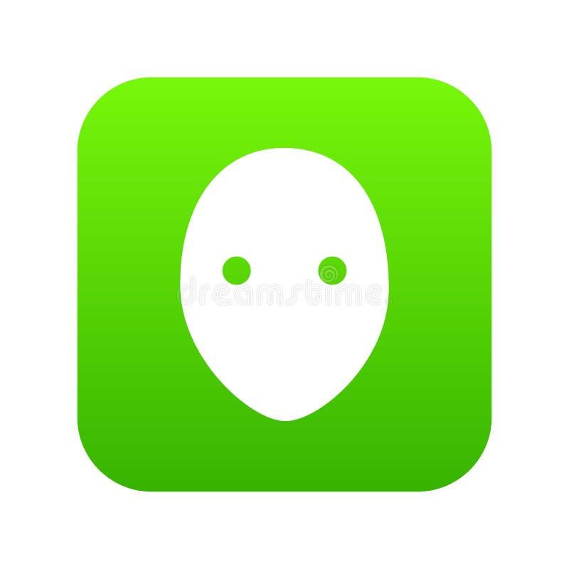 曲棍球守门员盔甲象绿色传染媒介 向量例证