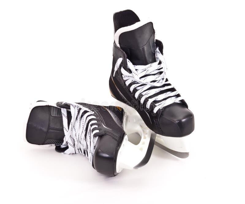 曲棍球对冰鞋 库存照片