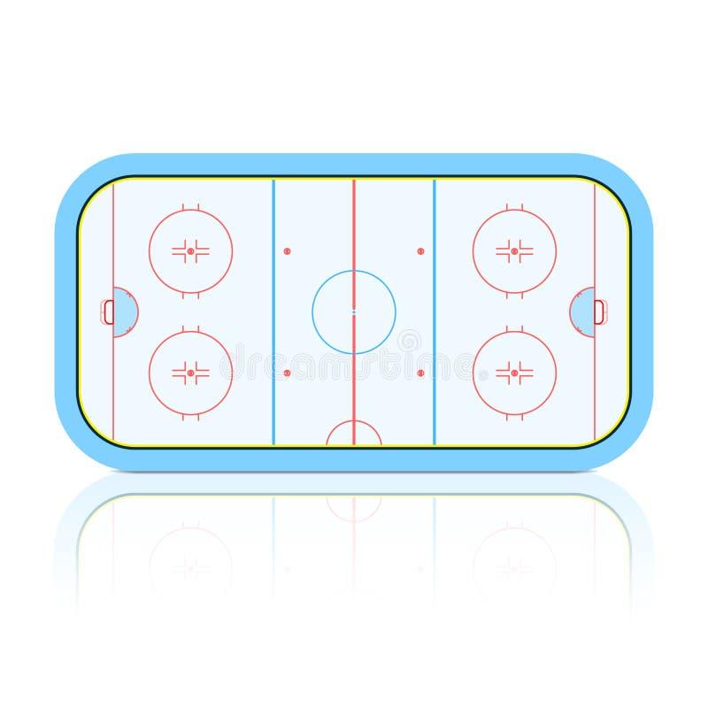 曲棍球溜冰场 库存例证
