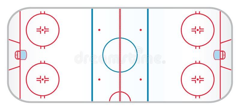 曲棍球溜冰场 向量例证