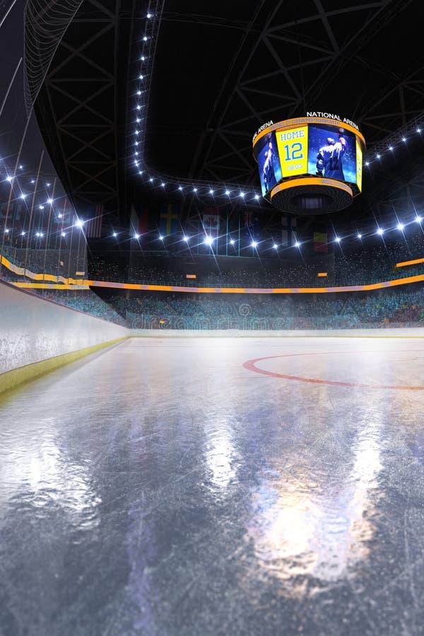 曲棍球滑冰场体育比赛场所空的领域 皇族释放例证