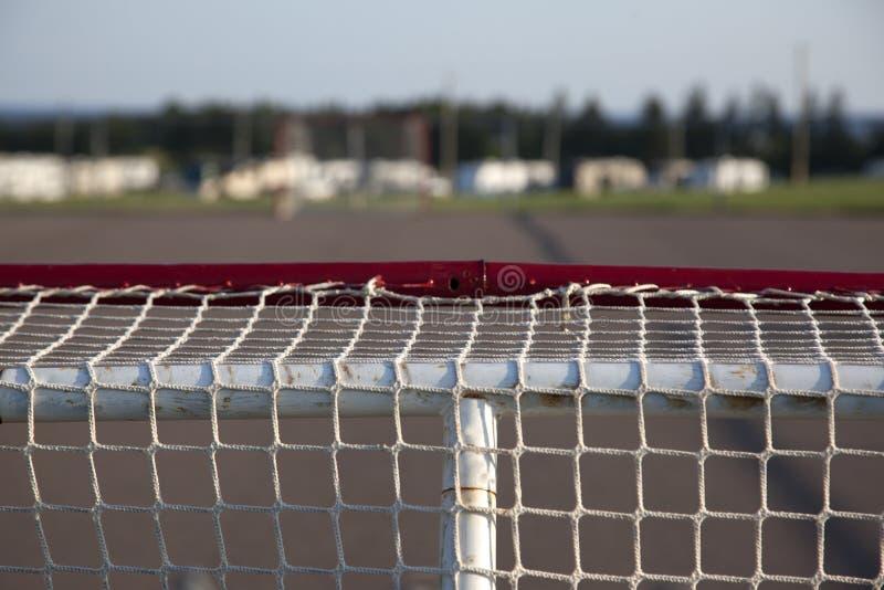 曲棍球网上面  库存图片
