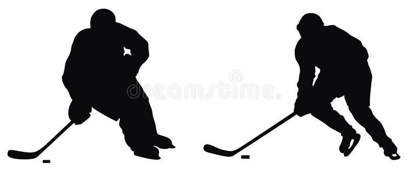 曲棍球运动员 向量例证
