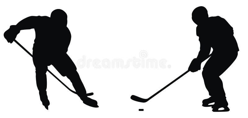 曲棍球运动员 库存例证