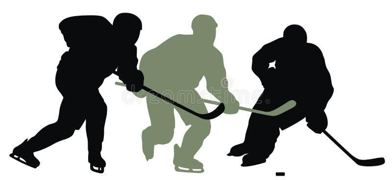 曲棍球运动员 皇族释放例证