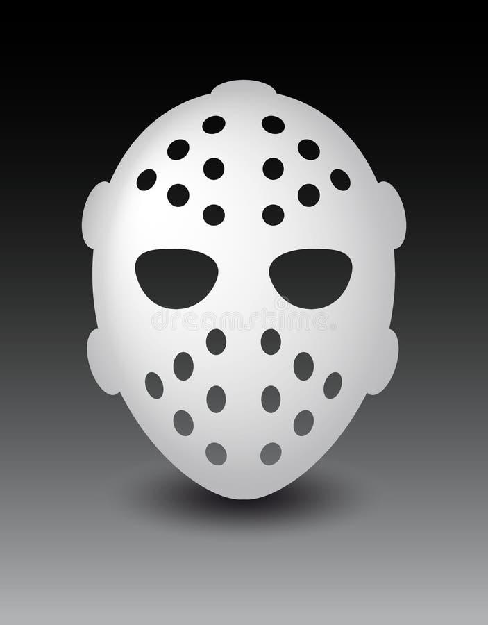曲棍球面具或恐惧恐怖面具为万圣夜 向量例证