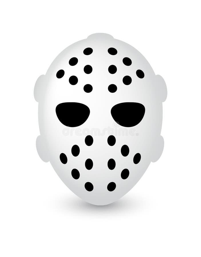 曲棍球面具或恐惧恐怖面具为万圣夜 皇族释放例证