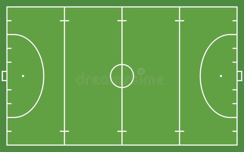 曲棍球领域前面看法  几何和平 向量例证
