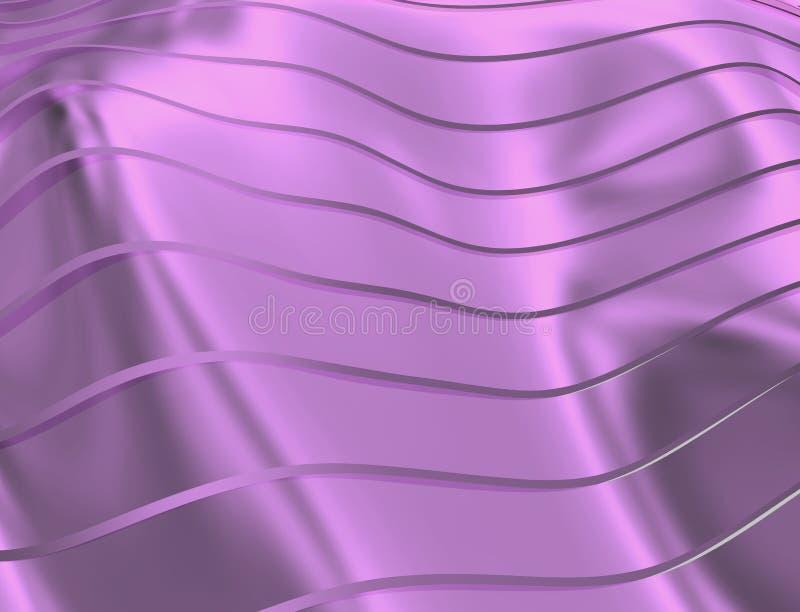 曲线和线的图象在紫罗兰色和透明颜色 皇族释放例证