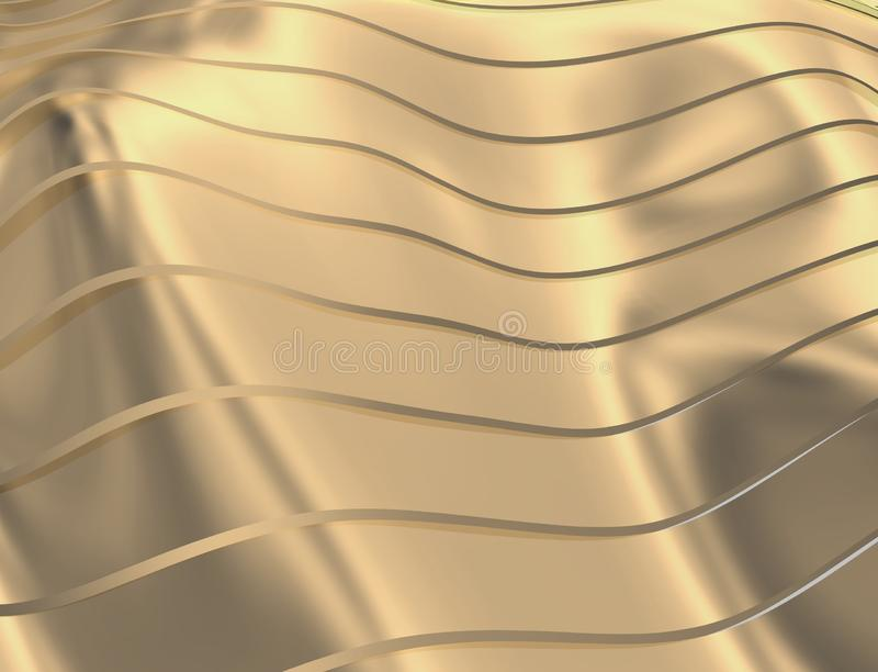 曲线和线的图象在红色金黄透明颜色 皇族释放例证
