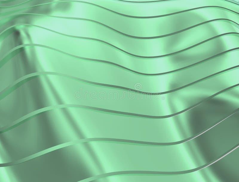 曲线和线的图象在绿色软和透明颜色 皇族释放例证
