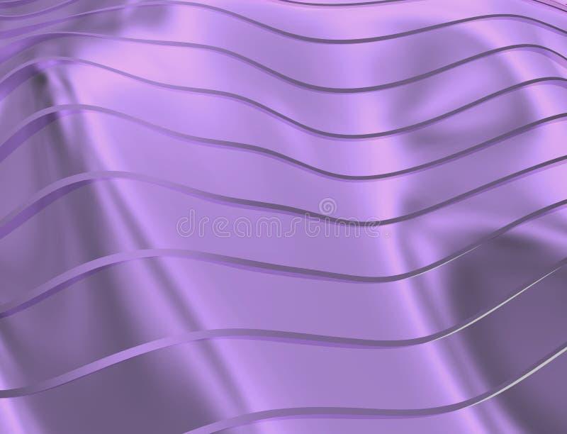 曲线和线的图象在软的紫罗兰色和透明颜色 向量例证