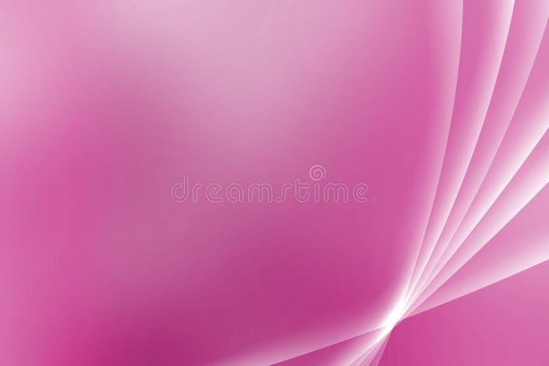 曲线桃红色紫色安慰性的远景 库存例证