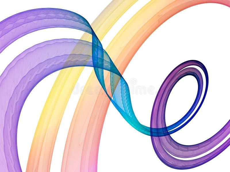 曲线紫罗兰 库存例证