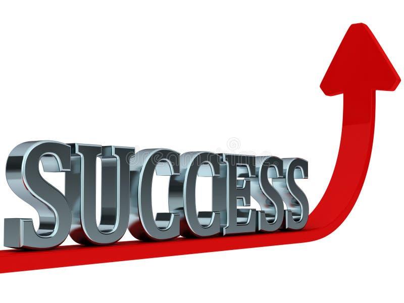 曲线红色上升的成功 向量例证