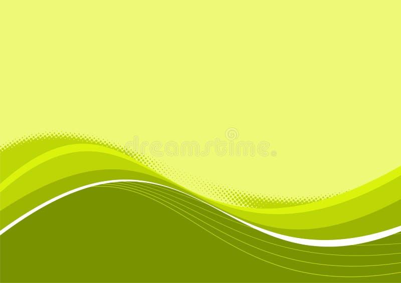 曲线绿色柔和的淡色彩 皇族释放例证