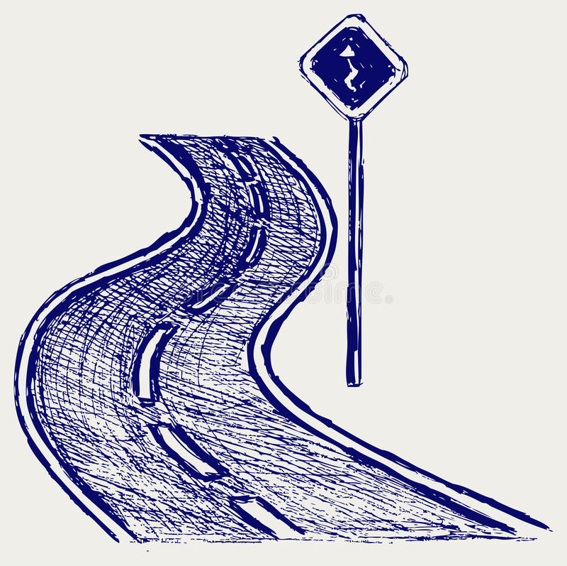 曲线路 库存例证
