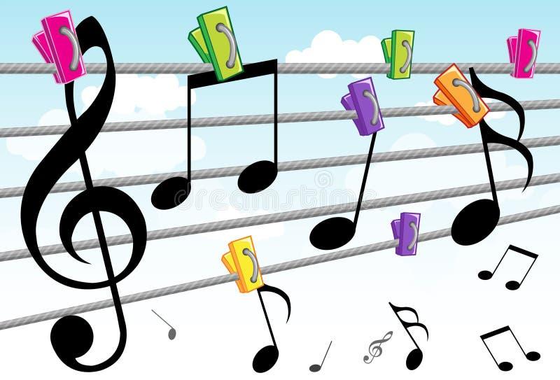 曲调音乐 向量例证