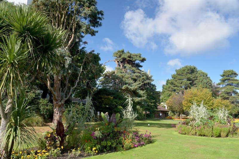 更低的庭院,伯恩茅斯,多西特 库存图片
