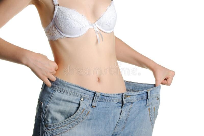 更加了不起的牛仔裤范围妇女 免版税库存照片