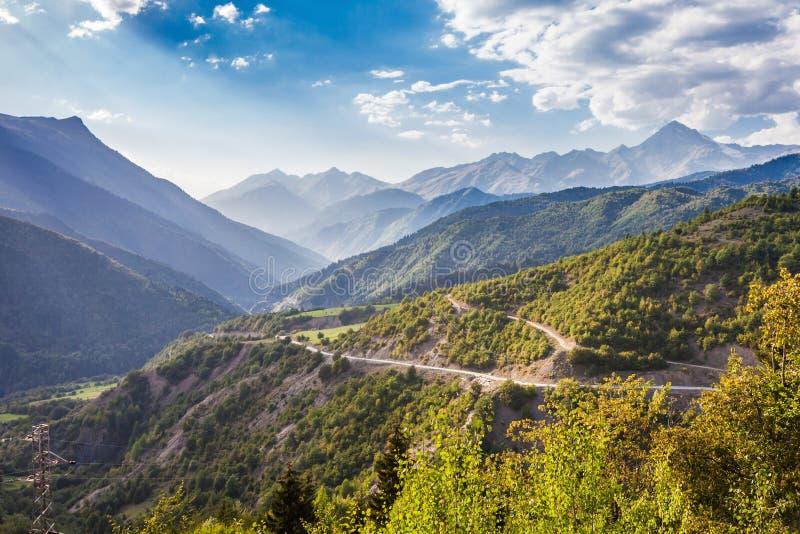 更加伟大的高加索山脉 免版税库存照片