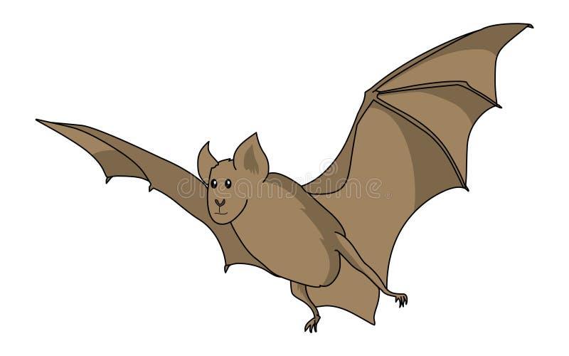 更加巨大的马蹄型蝙蝠例证 棒球 库存例证