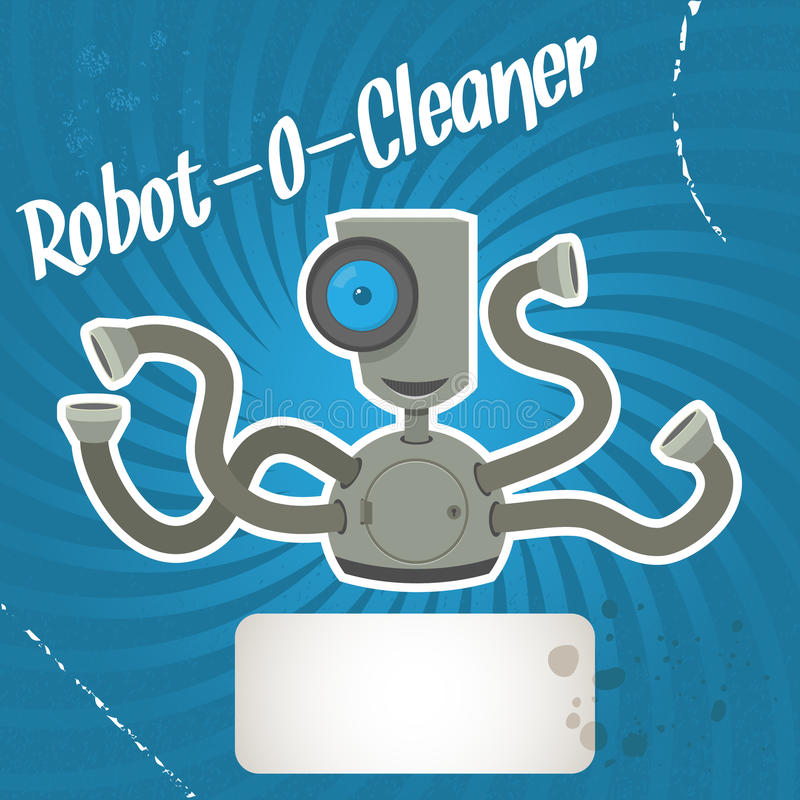 更加干净的机器人 向量例证