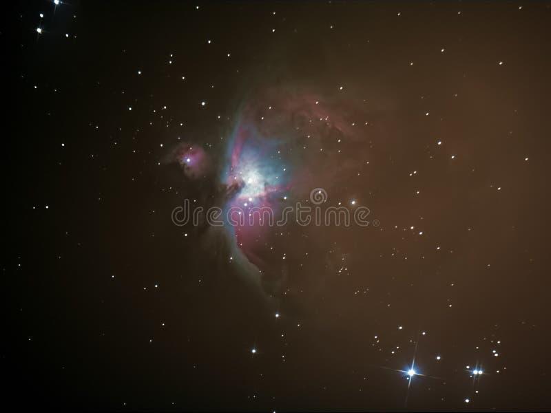 更加杂乱42猎户星座星云M42 库存图片