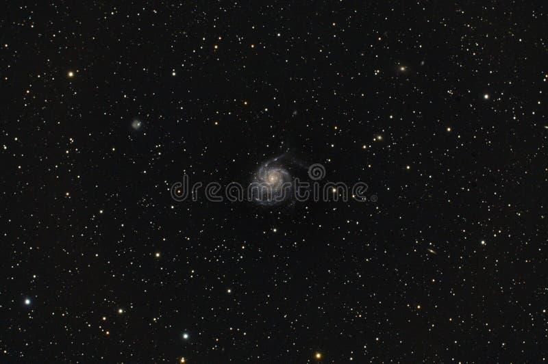 更加杂乱101风车星系在大熊座 图库摄影