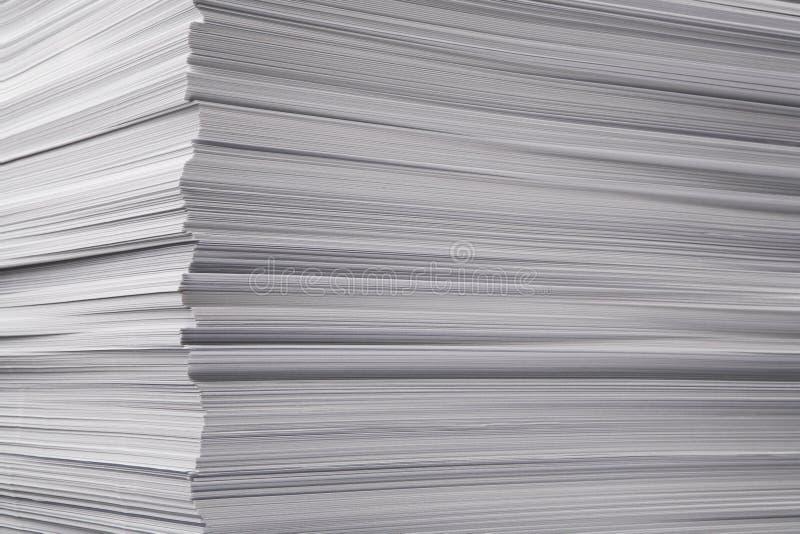 更加极大的纸堆 库存照片