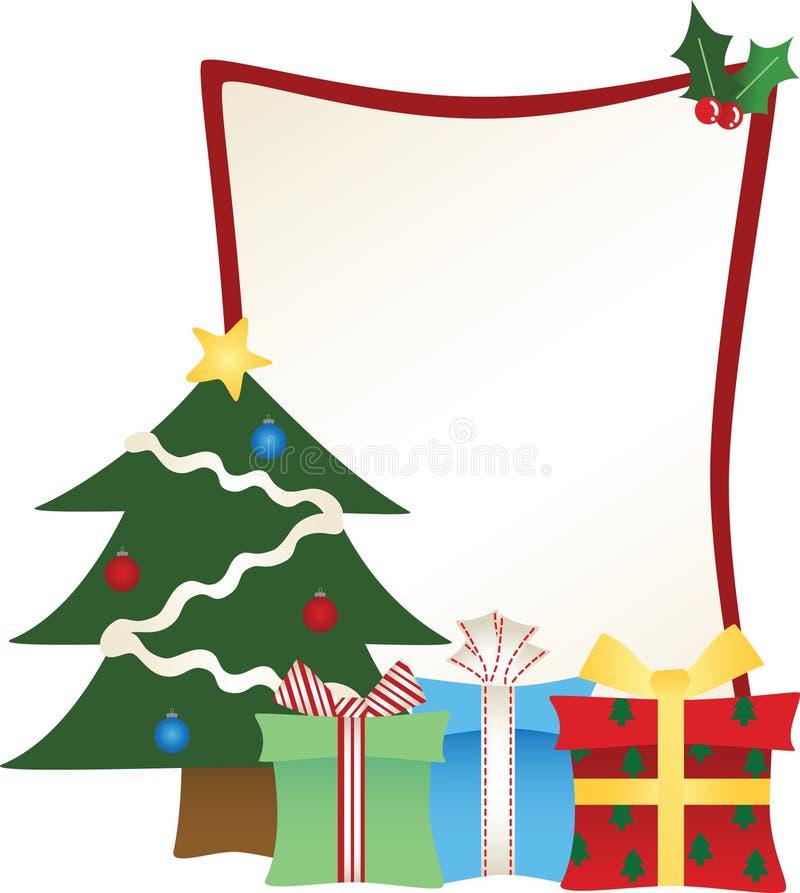 更加清楚的圣诞节框架结构树 皇族释放例证